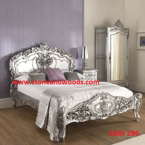 Carved Silver Bed S&W 296