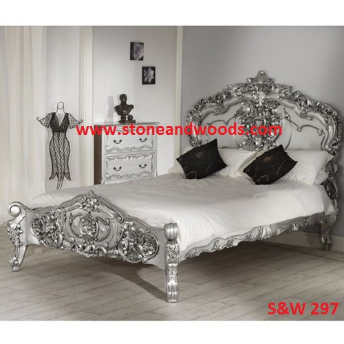 Carved Silver Bed S&W 297