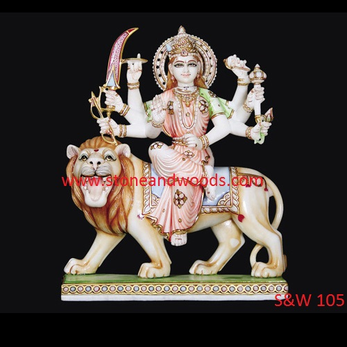 Marble Durga Maa Statue S&W 105