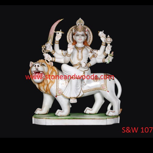 Marble Durga Maa Statue S&W 107