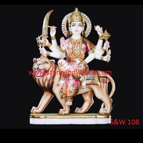 Marble Durga Maa Statue S&W 108