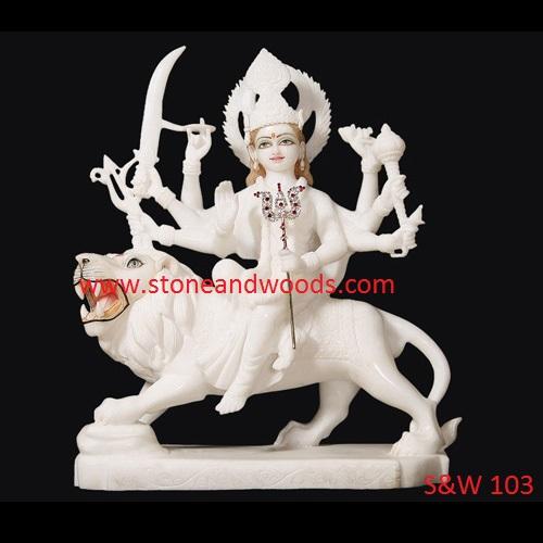 White Marble Durga Statue S&W 103