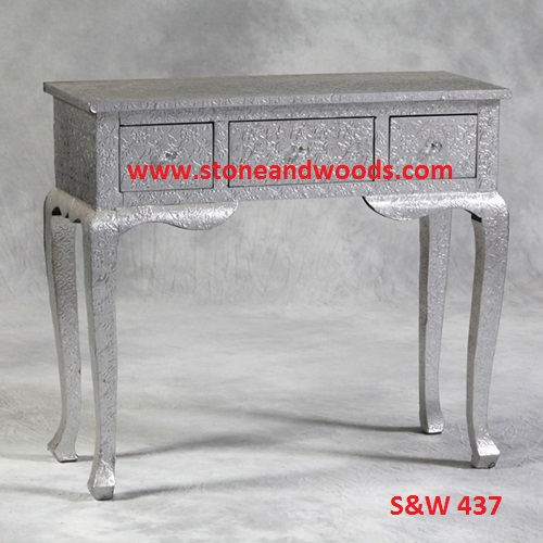 Silver Side Table with Drawer S&W 437