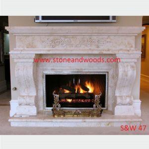 Modern Stone Fire Place S&W 47