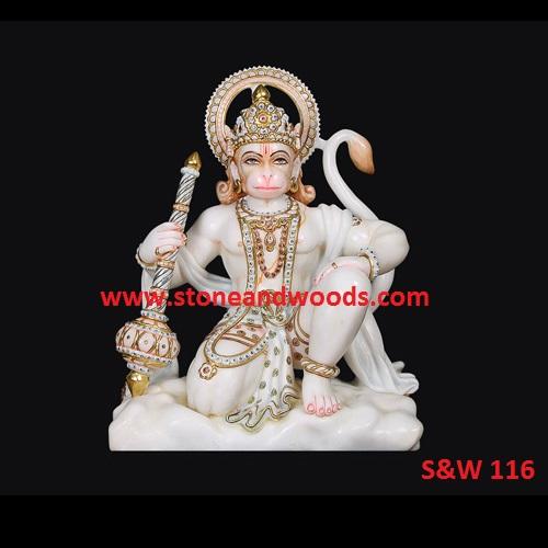 Sitting Hanuman Statue S&W 116
