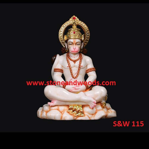 Sitting Hanuman Statue S&W 115