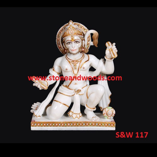 Sitting Hanuman Statue S&W 117