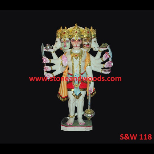 Marble Hanuman Statue S&W 118