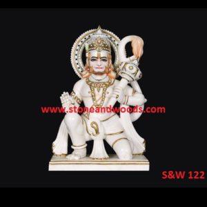 Marble Hanuman Statue S&W 122