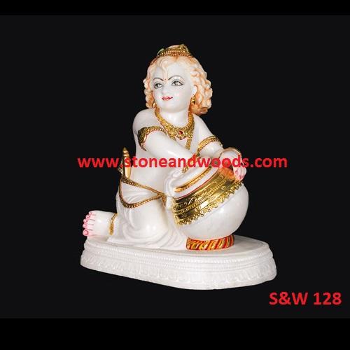 Marble Krishna Statue S&W 128