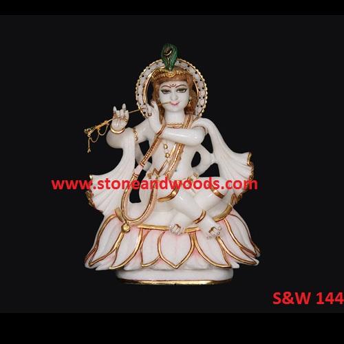 Marble Krishna Statue S&W 144