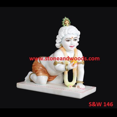 Laddu Gopal Marble Statue S&W 146