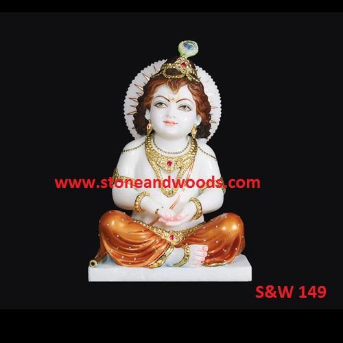 Marble Bal Gopal Krishna Statues S&W 149