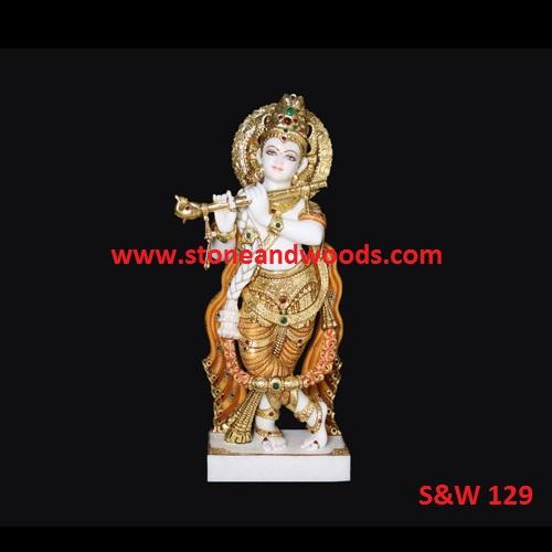 Marble Krishna Statue S&W 129