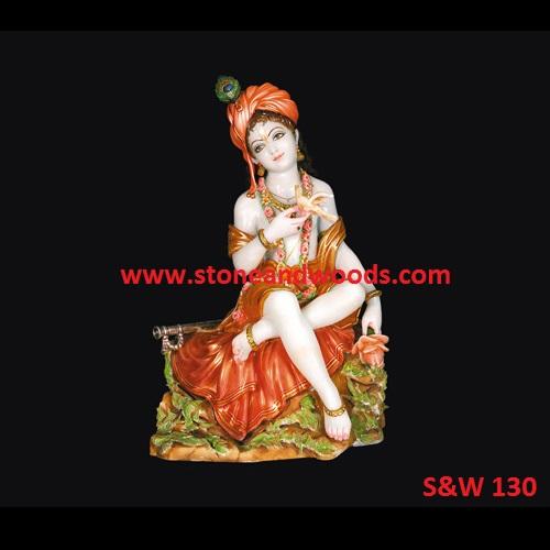Marble Krishna Statue S&W 130
