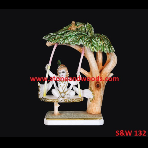 Marble Bal Gopal Krishna Statues S&W 132