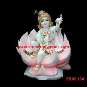 Marble Bal Gopal Krishna Statues S&W 134