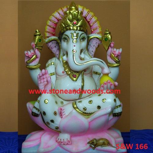 White Ganesh Statue S&W 166