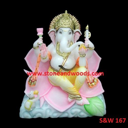 White Ganesh Statue S&W 167