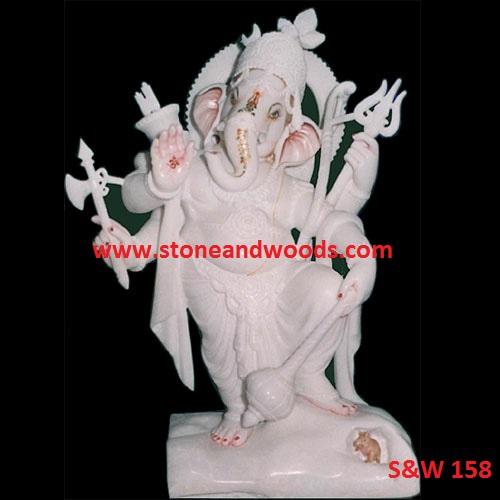 White Ganesh Statue S&W 158