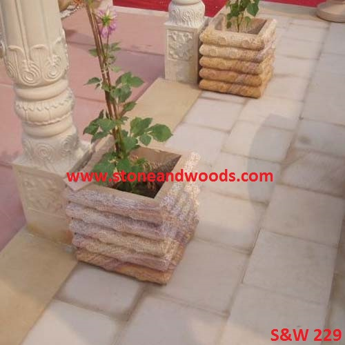 Outdoor Garden Marble Planters S&W 229