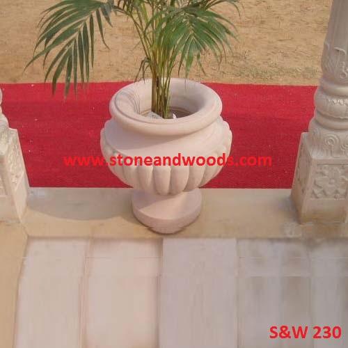 Outdoor Garden Marble Planters S&W 230