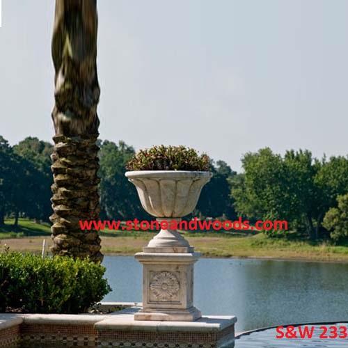 Outdoor Garden Marble Planters S&W 233