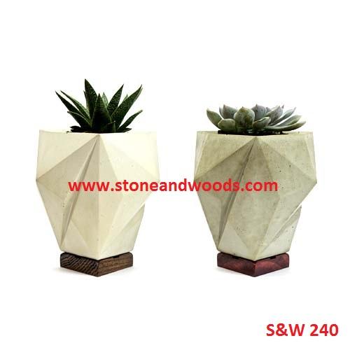 Marble Stone Garden Planters S&W 240