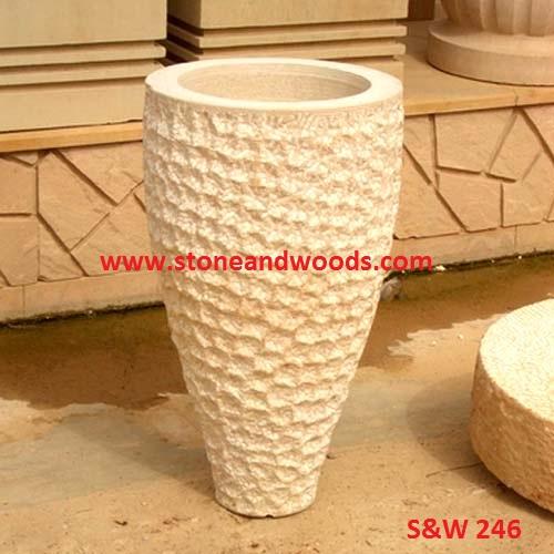 Outdoor Garden Marble Planters S&W 246