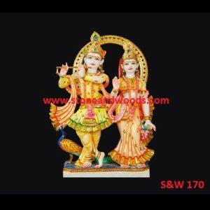 Lord Radha Krishna Statue S&W 170