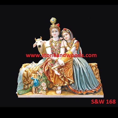 Lord Radha Krishna Statue S&W 168