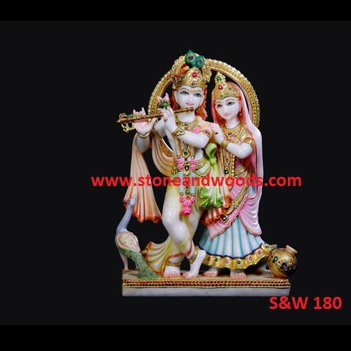 Lord Radha Krishna Statue S&W 180