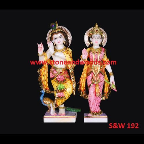 Marble Radha Krishna Idol S&W 192