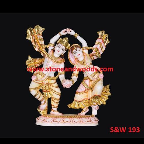 Marble Radha Krishna Moorti S&W 193