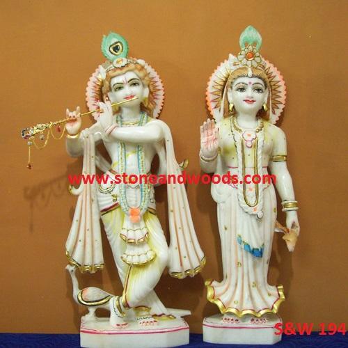 Marble Radha Krishna Moorti S&W 194