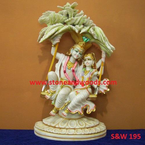 Marble Radha Krishna Moorti S&W 195