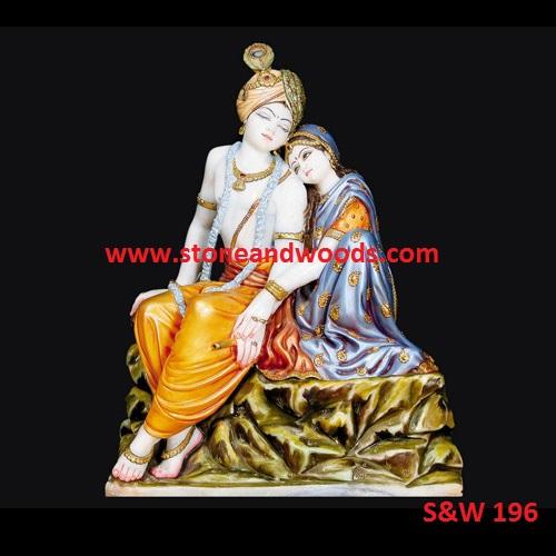 Marble Radha Krishna Moorti S&W 196