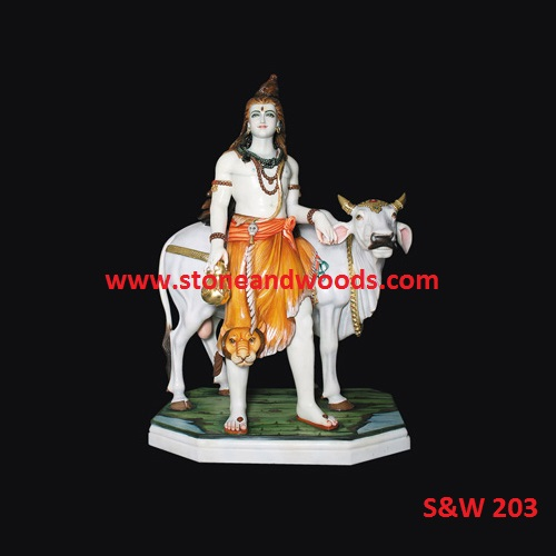 Lord Shiva Marble Statue S&W 203