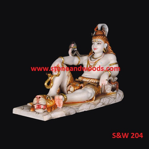 Lord Shiva Marble Statue S&W 204