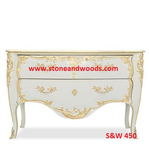 White Marble Side Table S&W 450
