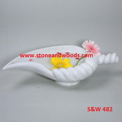 White Marble Decorative Bowl S&W 482