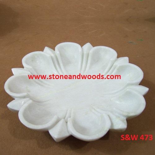 White Marble Fruit Bowl S&W 473