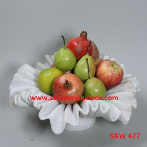 White Marble Fruit Bowl S&W 477