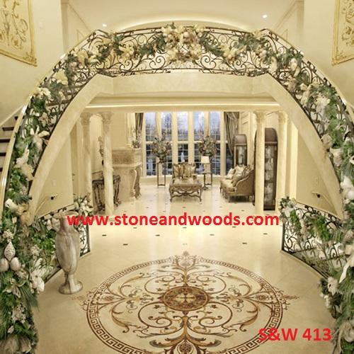 Inlay Work Marble Flooring S&W 413
